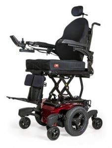 [object object] Quickie QM-710 Power Wheelchair QM710 B 3QtrLeft fullElevation 003 227x300