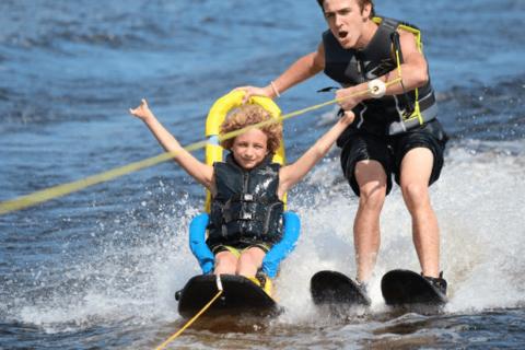 Water skiing with Texas Adaptive Aquatics