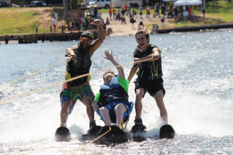 Water skiing with Texas Adaptive Aquatics